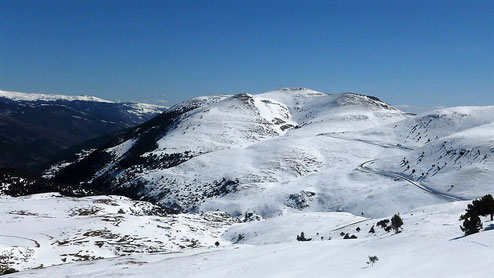 Raquetes de neu al Coll de la Creueta