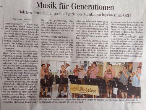 Vorgruppe Egerländer Musikanten