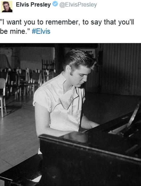 Elvis Presley@ElvisPresley, Tweed - 13:30 Uhr – 02. Okt. 2015
