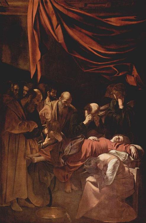 Смерть Марии - великие шедевры Караваджо