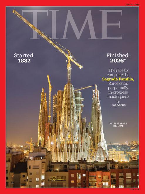 Храм Святого Семейства в Барселоне на обложке журнала Тайм