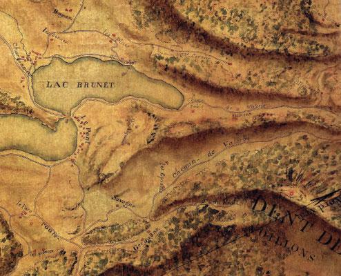 Carte IGN de 1785. Les arpenteurs de Louis XVI ont une notion toute particulière de l'orthographe de nos toponymes