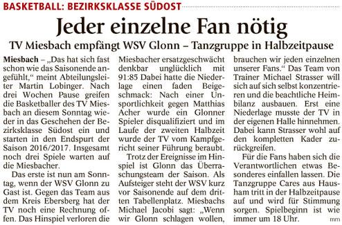 Artikel im Miesbacher Merkur am 11.3.2017 - Zum Vergrößern klicken