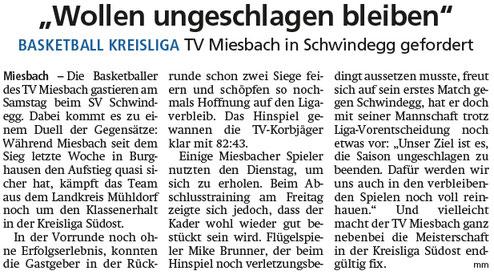 Artikel im Miesbacher Merkur am 29.2.2020 - Zum Vergrößern klicken