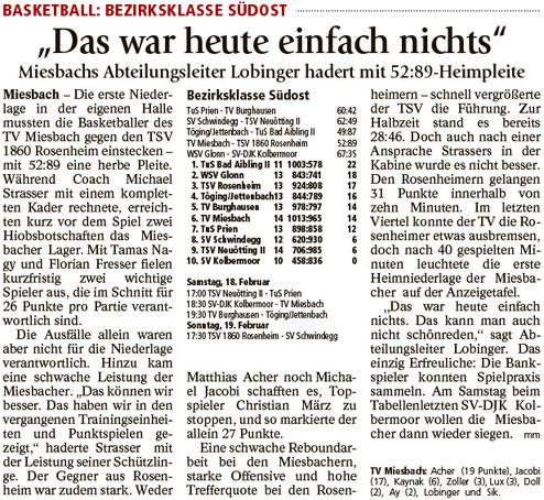 Bericht im Miesbacher Merkur am 14.2.2017 - Zum Vergrößern klicken