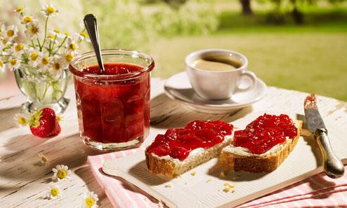 Erdbeer-Konfitüre mit Espresso