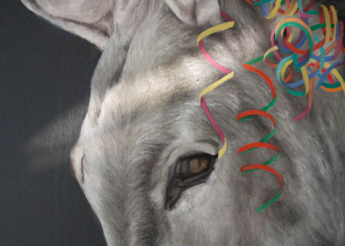 [detail] And the ass saw the asshole . 2016 . 160x110 . oil on canvas