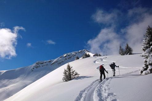 Skitouren mit Bergführer, Skitouren für Anfänger und Fortgeschrittene, individuell an die besten Bedingungen angepasst