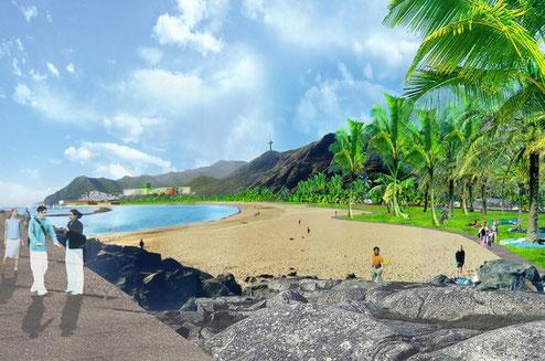 Visión de Perrault, Playa las Teresitas, Tenerife