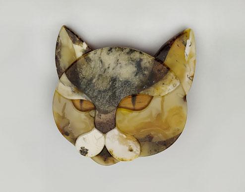 Amber cat, Baltic amber, mosaic, Kaliningrad