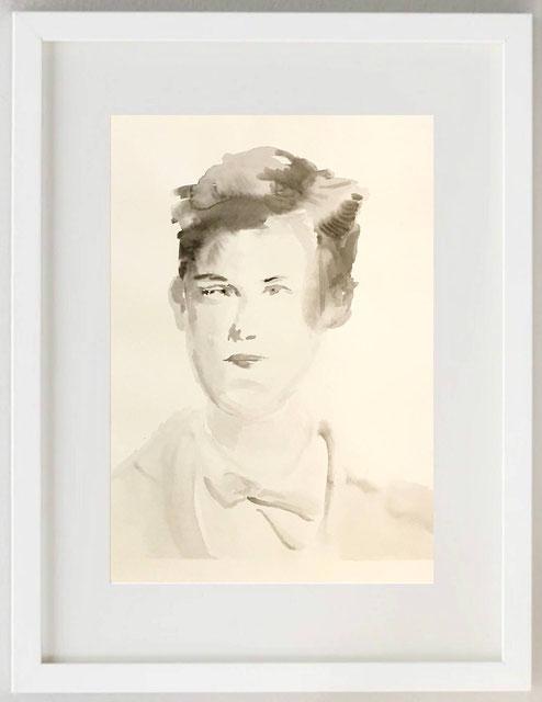 """23 / GASTONE BIANCHI, """"SOGNATO PER L'INVERNO (A. RIMBAUD)"""", 2020, Acquerell, 20 x 30"""