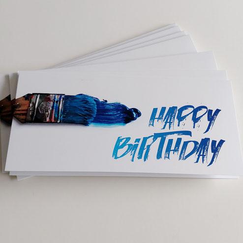 Geburtstagskarten farbig modern 100% Swissmade