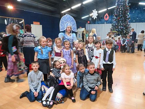 """1 """"Б"""" класс на Новогоднем представлении """"Чудеса Морозко"""" во Дворце Спорта """"Аркада""""."""