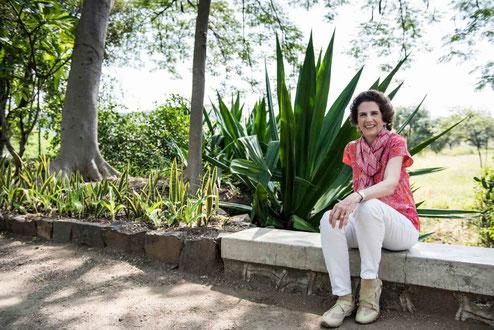 Diana Bloise at Meherazad, India. Photo taken by Frank Bloise