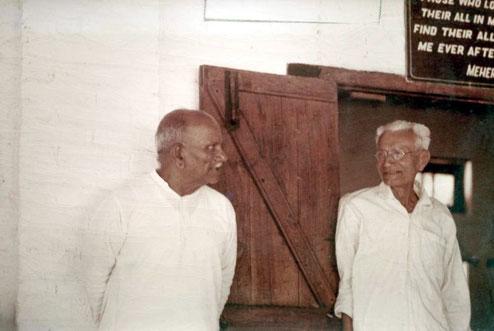 Padri with Siddhu at Meherabad, India