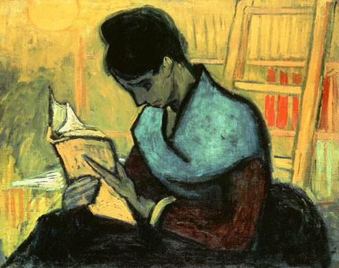 """Van Gogh, """"La lettrice di romanzi"""", 1888"""