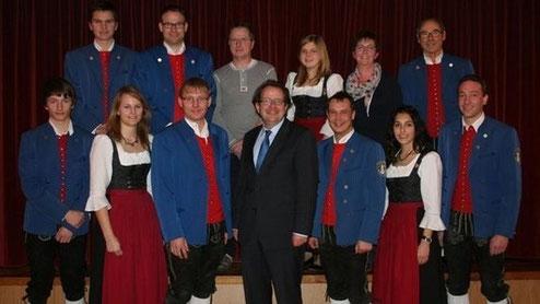 Die neue Vorstandschaft mit Oberbürgermeister Armin Neudert