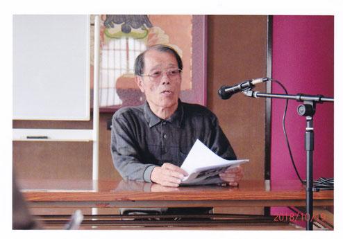 講演をされる二神氏     写真提供 髙村昌男氏