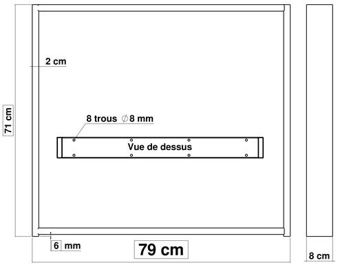 pied de table à manger en métal  71 cm x 79 cm