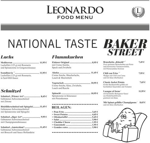 Cafe Leonardo© -National Taste mit Schnitzel & Lachs
