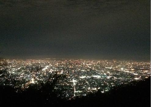 生駒山上より大阪平野を望む(筆者撮影)