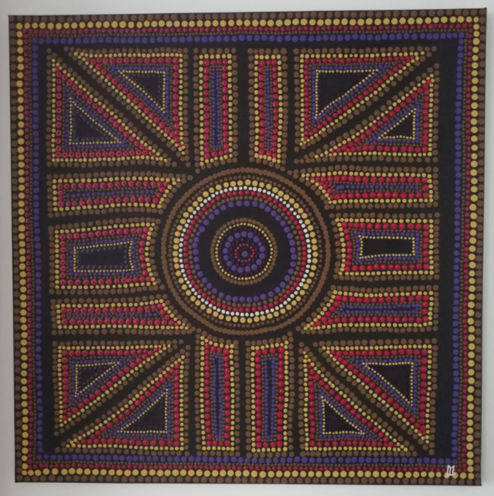TARANIS  (70 x 70 cm) 450.-