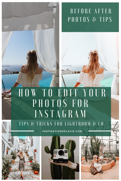 Edit your instagram photos with lightroom, snapseed, vsco & co. Learn my photo editing tips and hacks for Instagram and see my before and after photos for a great feed, growth and more reach on Instagram and your blog. Whether VSCO, Snapseed or Lightroom