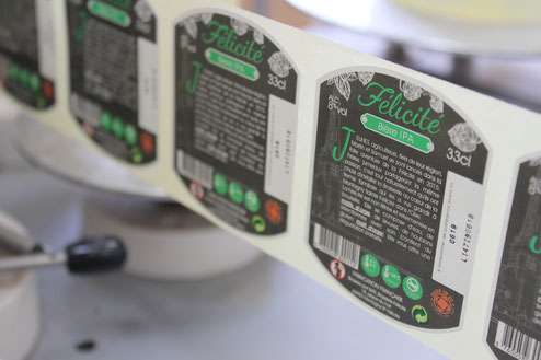 étiquettes bière félicité IPA