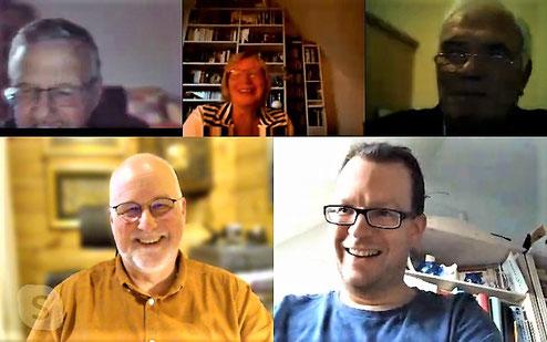 Screenshot von einigen Teilnehmern aus der Fraktionssitzung am 31.03.2020