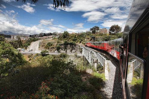 Eisenbahnfahrten in Ecuador