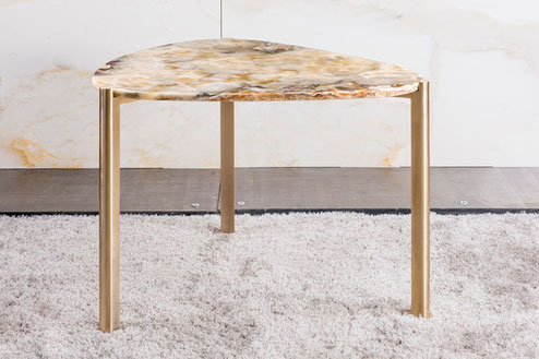 Arabescato-marble-center-table-with walnut wood