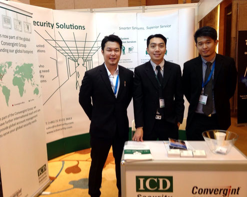 ICD's Derek Chan, Gary Wong and Brandon Tan at our ASIS booth