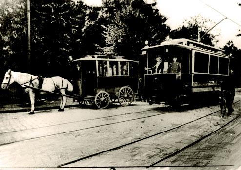 Ablösung: Straßenbahn ersetzt Pferdeomnibus