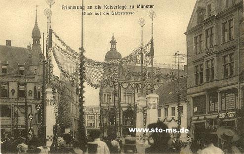 Die Triumpfbögen am Eingang der Salzstraße