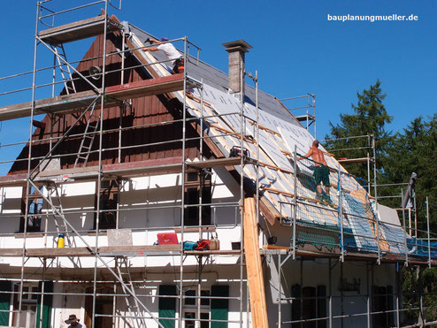 energetische Sanierung eines alten Einfamilienhauses