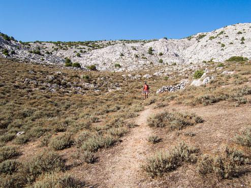 Der Talboden zwischen den beiden Gipfeln.