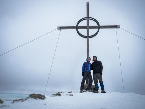 Auf dem Gipfel des Bschießer auf 2.000 Meter Höhe