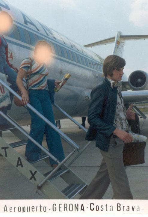 Verlassen einer Douglas DC-9-10 der Spantax/Courtesy: Sammlung Klaus Schmidt