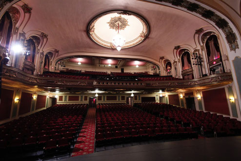 Das Coleman-Theater in Miami, Oklahoma, von innen