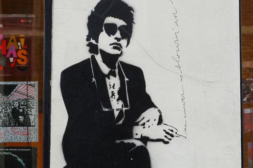 Street Art Brüssel, Bob Dylan, Musiker