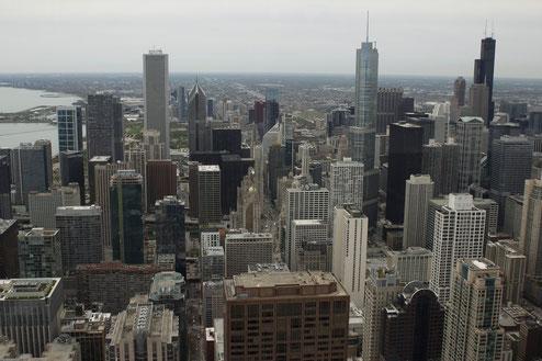 Chicago vom Hancock Center aus gesehen