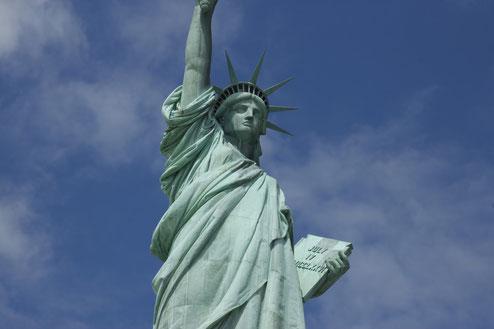 Die Freiheitsstatue auf Liberty Island, New York