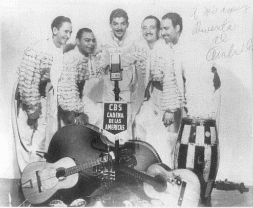 """Chago Alvarado, Luis """"Lija"""" Ortíz, Celso Vega, Sarrail Archilla  y Yayo El Indio- 1945."""