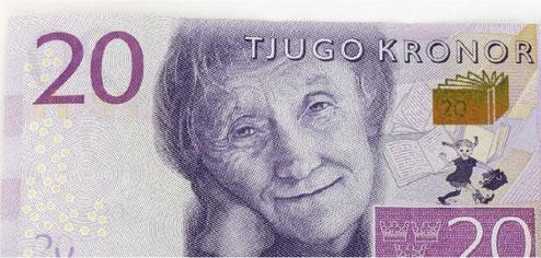 Mit dem 20-Kronen-Schein wurde der Jahrhundertfrau und ihrem berühmtesten Kind ein Denkmal geschaffen.