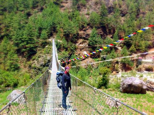 Auf dem Weg zum Mount Everest Base Camp