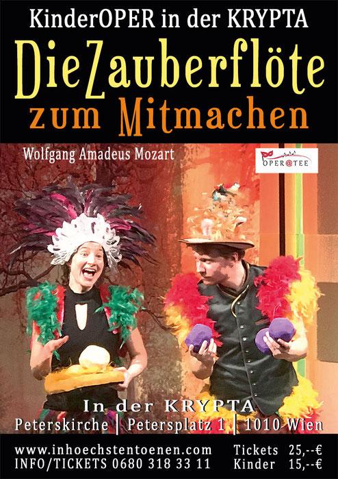 MOZARTINI präsentiert DIE ZAUBERFLÖTE - Kinderoper im Mozarthaus Vienna