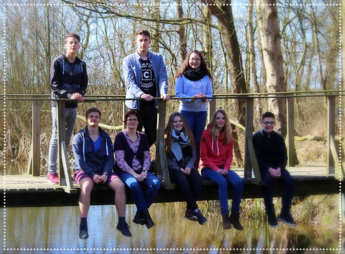 V.l.: Leo, Erk, Frau Franz, Nico, Lene, Joy, Lina und Benni