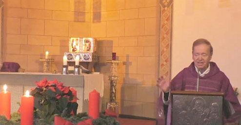 Pastor Jochen Hesse während seiner Sonntagspredigt am 06.12.2020