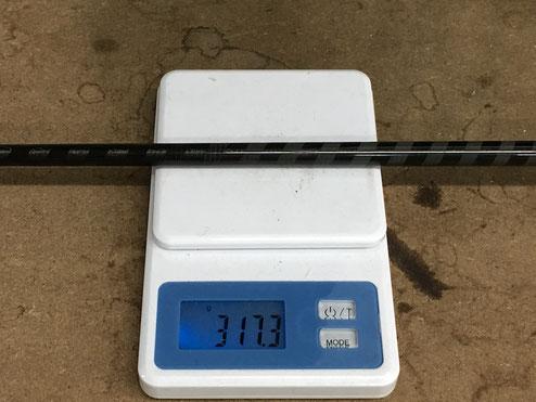 ゴルフクラブ重量計測画像