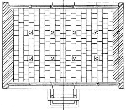 Intérieur d'un grenier. LU Lien-tching : Les greniers publics de prévoyance sous la dynastie des Ts'ing. Jouve & Cie, Paris, 1932.